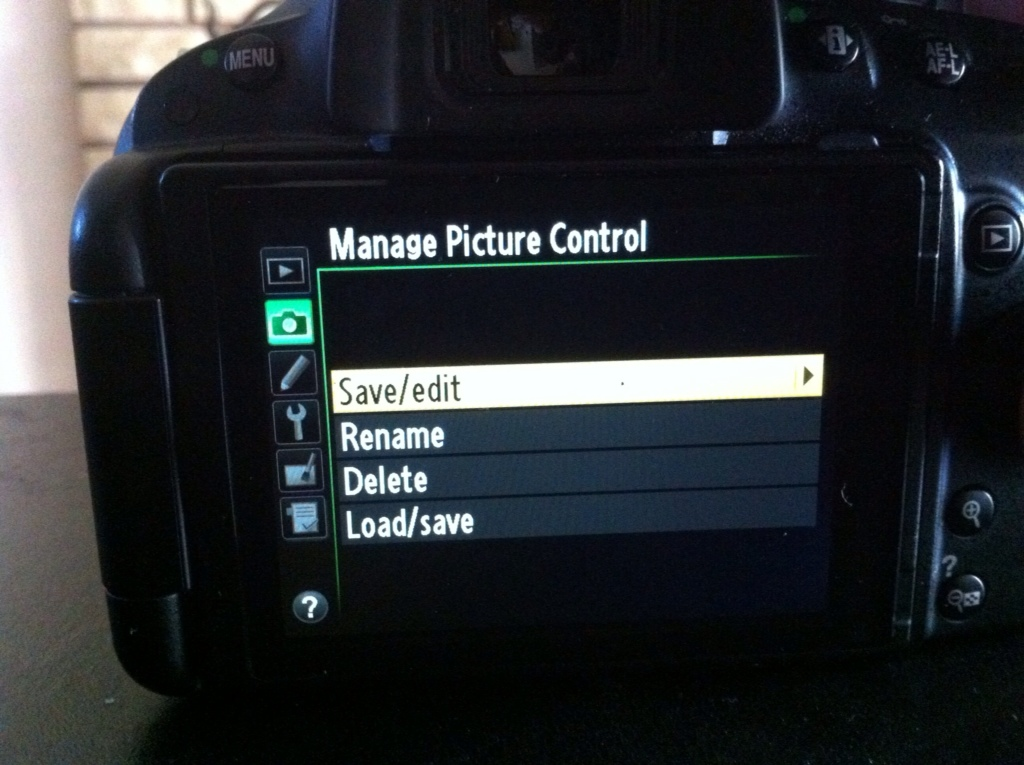 Save/edit for Manage Picture Control
